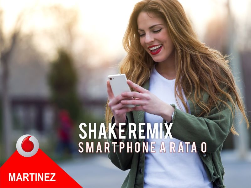 Offerta Vodafone Shake - promozione smartphone under 30 - Vodafone Store Martinez Trapani