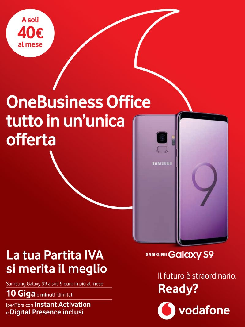 offerta vodafone one business - promozione  Samsung Galaxy S9 incluso