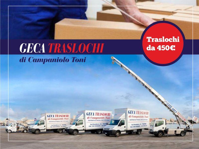 Offerta trasloco - Promozioni trasporti - Geca Traslochi Trapani