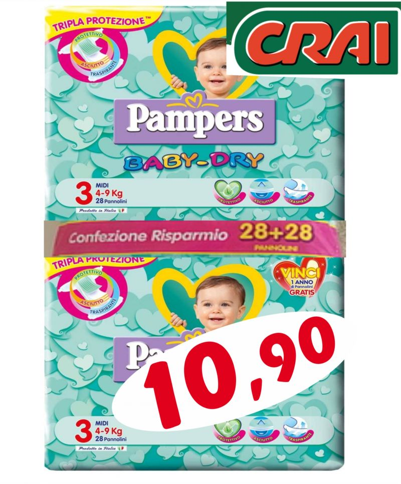 Offerta Pampers Baby Dry - Occasione Offerta Pampers Baby Dry  Udine - Offerta Pampers UD