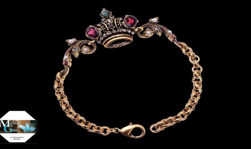 offerta Mineral Gems Bari gioielleria bracciale personalizzato corona ottone  sconto promo