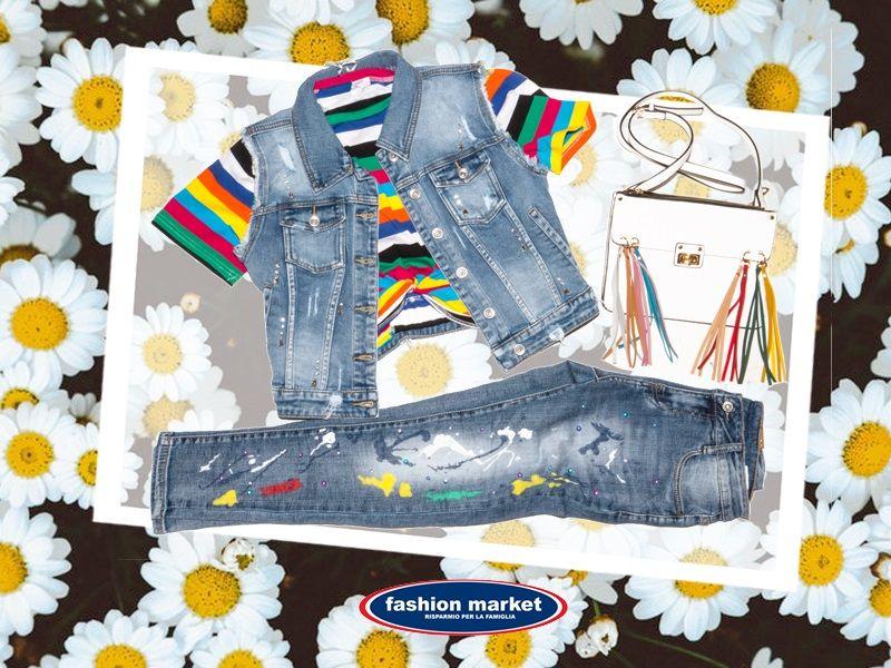 offerta Fashion Market linea donna jeans - occasione collezione abiti donna primavera