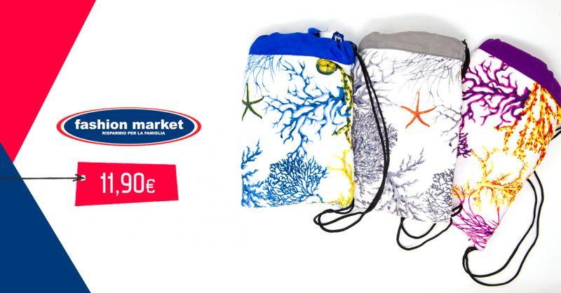 offerta Fashion Market telo mare in fantasia - occasione asciugamano da mare e piscina