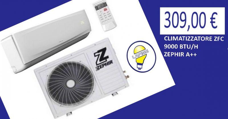 offerta CLIMATIZZATORE ZFC 9000 BTU H ZEPHIR A++- promozione condizionatore Zephir