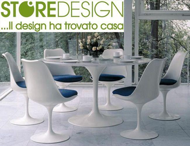 Occasione Tavolo Tulip Marmo Carrara diam. 90 cm - Made i Italy