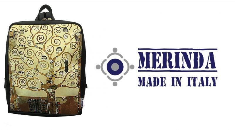 MERINDA occasione vendita online zainetto stampa d'autore linea arte donna made in italy Klimt