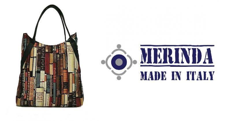 MERINDA offerta vendita online borsa shopper linea tessuto italy Libreria Museo d'Orsay