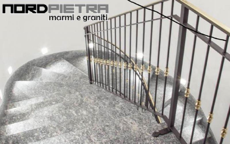Nord Pietra Offerta realizzazione posa scale pietra interni - Offerta realizzazione scale Como