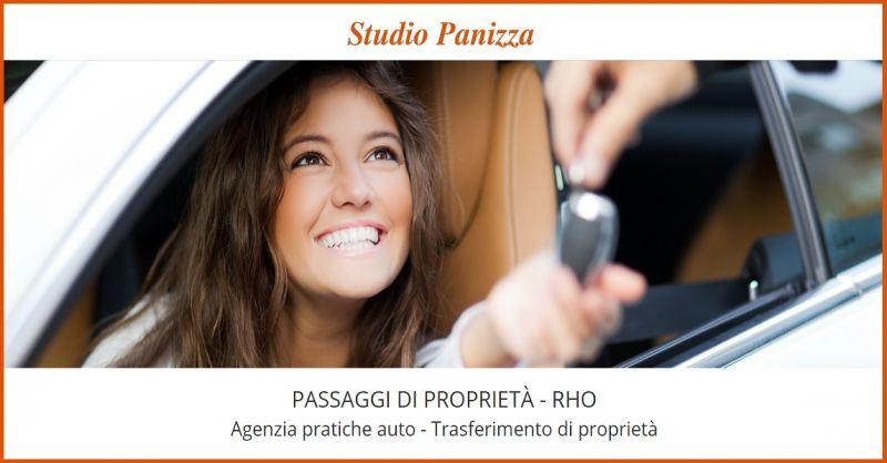 STUDIO PANIZZA Offerta servizi pratiche auto Rho - Promozione passaggio di proprietà auto Rho