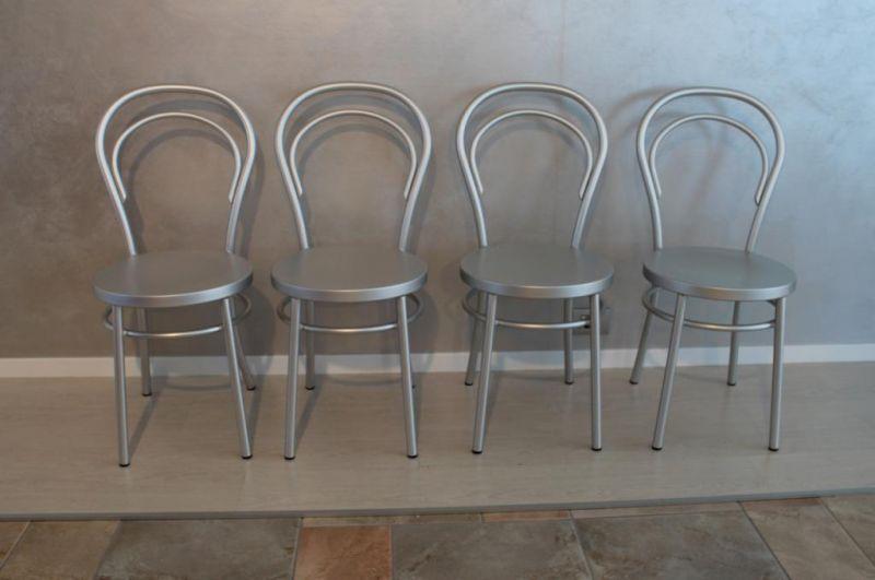 Sedia Madame-Al in alluminio anodizzato-Esse Design