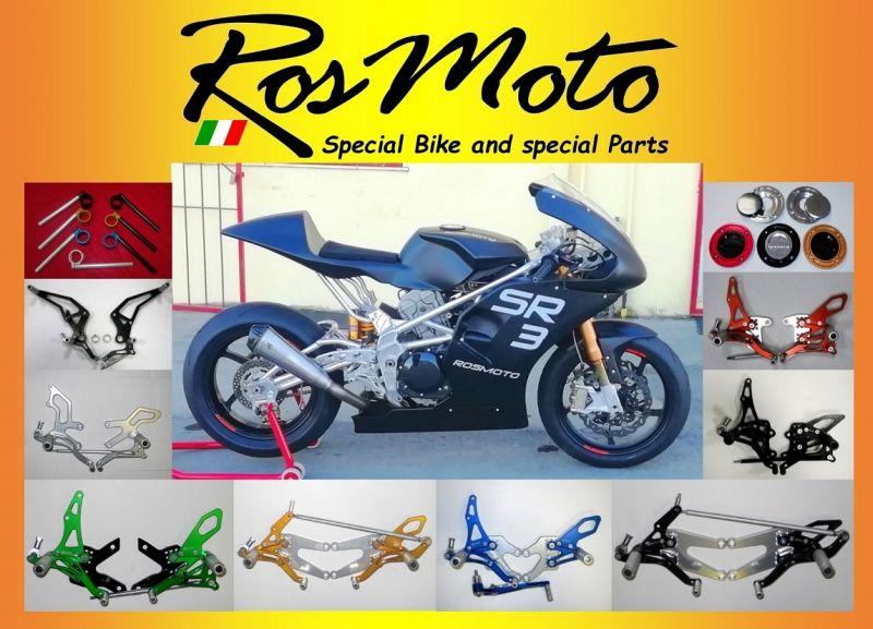 ROSMOTO - Offerta produzione vendita online pedane arretrate regolabili per moto Rearsets