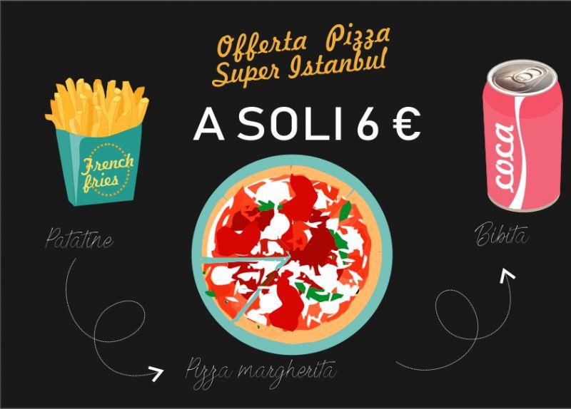 SUPER INSTANBUL offerta menu pizza - promozione pizza bibita patatine sesto san giovanni