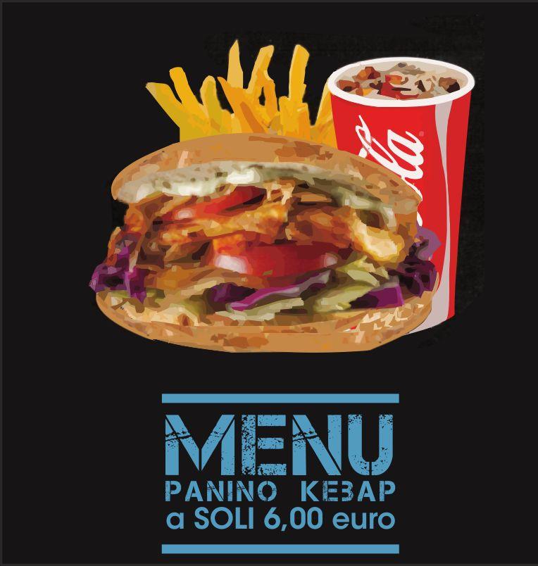 DA VINCI offerta menu panino kebap patine bibita - promozione specialita turche