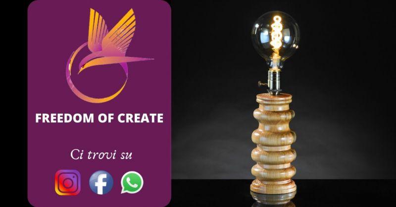 Offerta vendita lampade artigianali in legno - occasione lampada vintage design anni 60 Torino