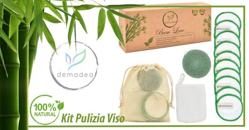 Offerta Kit pulizia viso naturale ed ecologico - Occasione Dischetti struccanti lavabili Ecologici