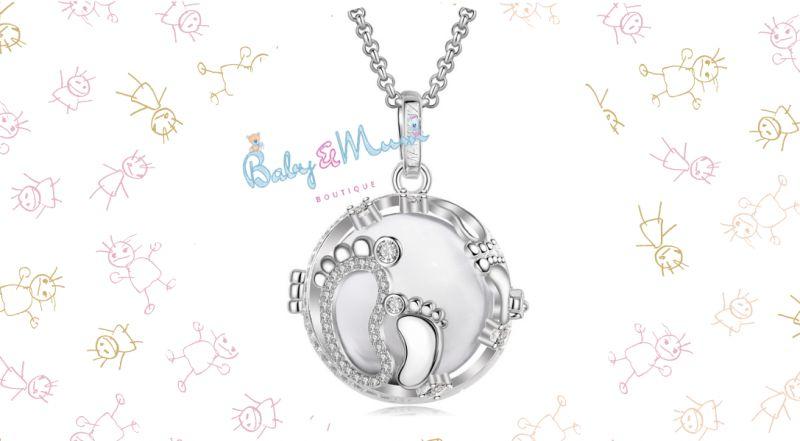 Baby Mum Boutique - offerta vendita chiama angeli con piedini bianco MAMIJUX per mamme in attesa