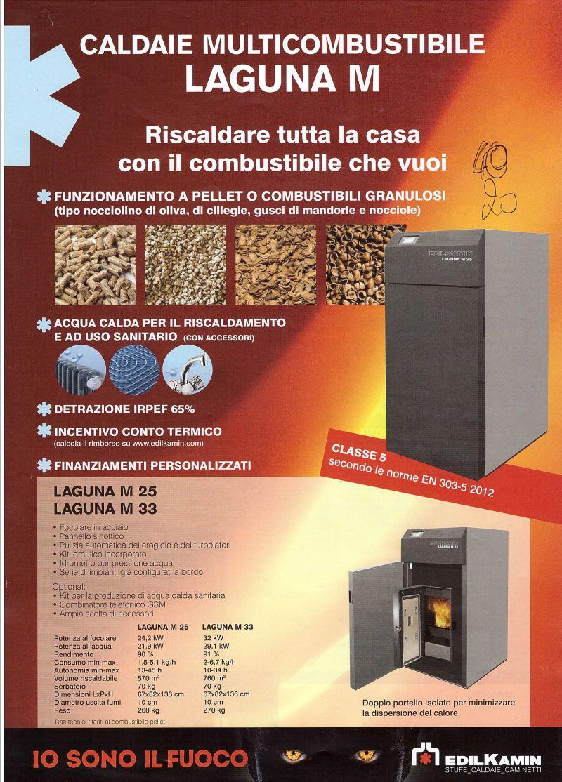Caldaia policombustibile - pellet o combustibili granulosi